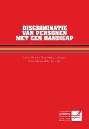 discriminatie van personen met een handicap - Centrum voor ...