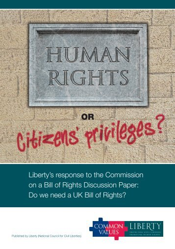 Human Rights or Citizens' Privileges - Liberty