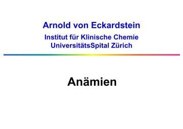 Anämien - Institut für Klinische Chemie - UniversitätsSpital Zürich