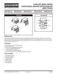 FAIRCHILD SEMICONDUCTOR MOC3051-M OPTOCOUPLER 7500V TRIAC 100 pieces