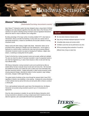 Abacus™ Intersection - Interprovincial Traffic Services
