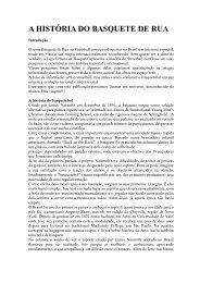 A HISTÓRIA DO BASQUETE DE RUA - LUB