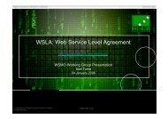 WSLA: Web Service Level Agreement - WSMO