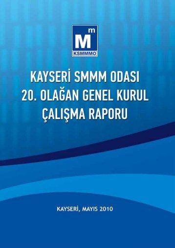 2009 Yılı Faaliyet Raporu - Kayseri SMMM Odası