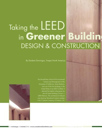 Taking the LEED in Greener Building Design & Construction