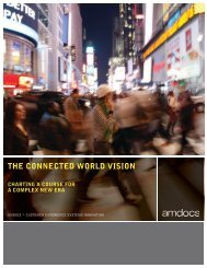 THE CONNECTED WORLD VISION - Amdocs