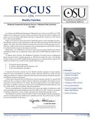 Focus Fall 98 - Family and Consumer Science - Oklahoma State ...