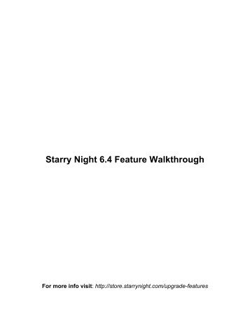 Starry Night 6.4 Feature Walkthrough - Starry Night Education