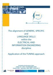 The alignment of Generic, Specific and Language ... - tuning project