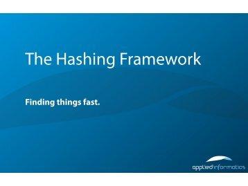 The Hashing Framework - Poco