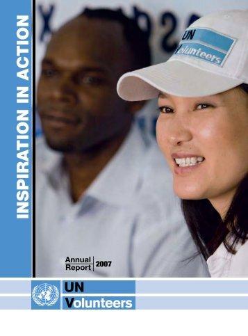 Annual Report 2007 [pdf] - United Nations Volunteers