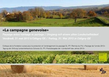 Programme du colloque - Etat de Genève