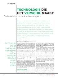 Software voor contactcenter-managers - Callcenter Makelaar