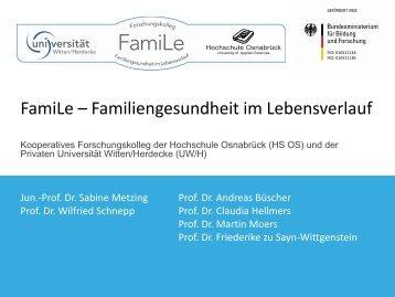 FamiLe - Familiengesundheit im Lebensverlauf ... - Wissenschaftsrat