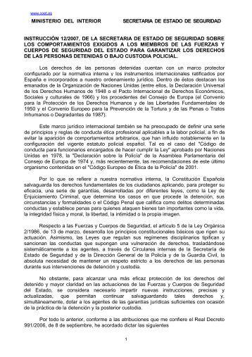 Esquema coet for Secretaria del ministerio del interior