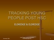 Julianne Eldridge - Tracking Young People Post HSC