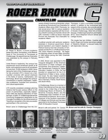 roger brown chancellor - UTC Athletics