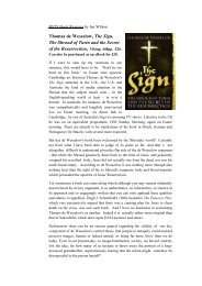 BSTS Book Reviews - The Shroud of Turin Website
