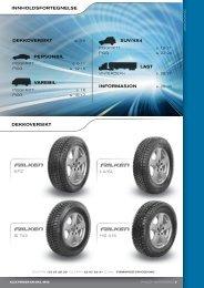 INNHOLDSFORTEGNELSE DEKKOVERSIKT SUV/4x4 ... - P. Holth AS