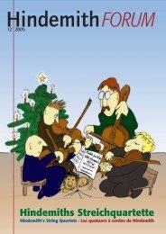 hindemiths streichquartette · hindemith's string quartets - Paul ...
