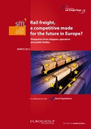 Rail freight, a competitive mode for the future in Europe? MARCH ...