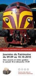 Programme Journées du Patrimoine 2010 - Service des Sites et ...
