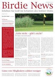 Birdie News - Golfplatz Am Alten Fliess e.V.