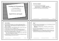 Grundlagen der Programmierung Kapitel 10: Ein- und Ausgabe