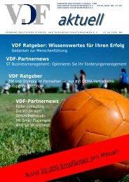 VDF aktuell Nr.17, 05.06.08 - Hier entsteht eine neue Internetpräsenz