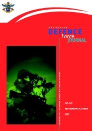 ISSUE 162 : Sep/Oct - 2003 - Australian Defence Force Journal