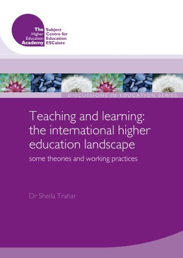 Teaching and Learning: the International Higher Education ...