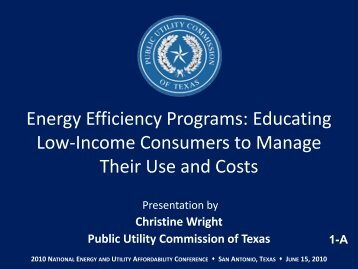 Wright, Christine - National Energy and Utility Affordability Conference