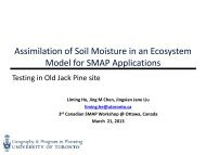 Assimilation of Soil Moisture in an Ecosystem Model for SMAP ...