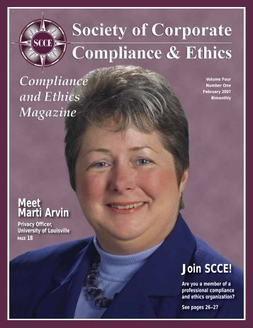Join SCCE! - Society of Corporate Compliance and Ethics