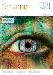 to read the latest issue of Sesame - The Open University