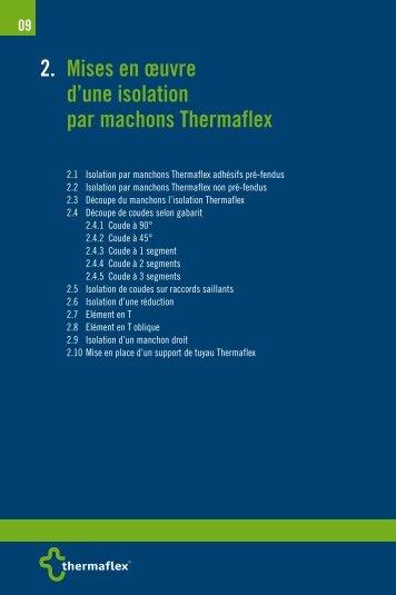 2. Mises en œuvre d'une isolation par machons thermaflex