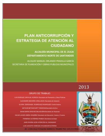 PLAN ANTICORRUPCIÓN Y ESTRATEGIA DE ATENCIÓN ... - El Zulia