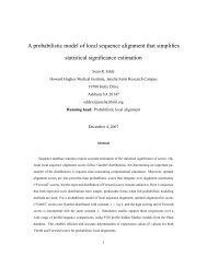 A probabilistic model of local sequence alignment that simplifies ...