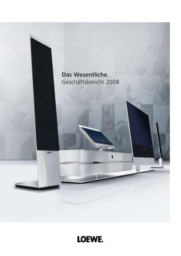 Jahresabschlusses 2008 - Loewe