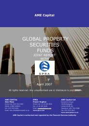 GLOBAL PROPERTY SECURITIES FUNDS – AME Capital - EPRA