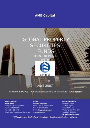 GLOBAL PROPERTY SECURITIES FUNDS – AME Capital - EPRA