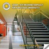 Ledar- & medarbetarpolicy - Karlstads universitet
