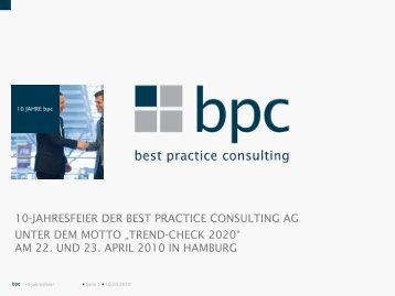 Folie 1 - best practice consulting AG
