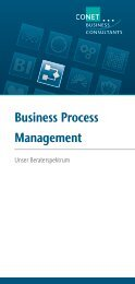 Business Process Management - CONET Group