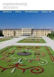 Angebotskatalog 2013/2014 - Schloß Schönbrunn