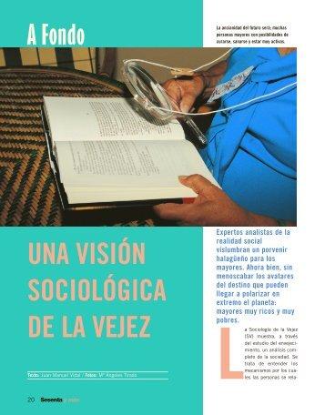 A Fondo: Una visión sociológica de la vejez - Imserso