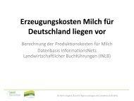 Erzeugungskosten Milch - Vortrag Dr. Karin Jürgens
