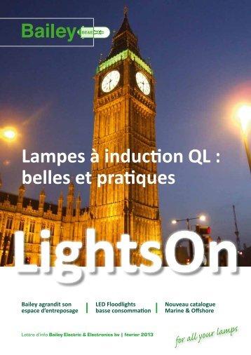 Lampes à induction QL : belles et pratiques - Bailey