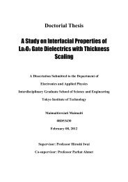 A Study on Interfacial Properties of La 2 O 3 Gate Dielectrics with ...