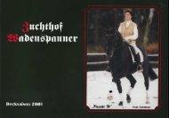 Hengstkatalog 2001 - Zuchthof Wadenspanner